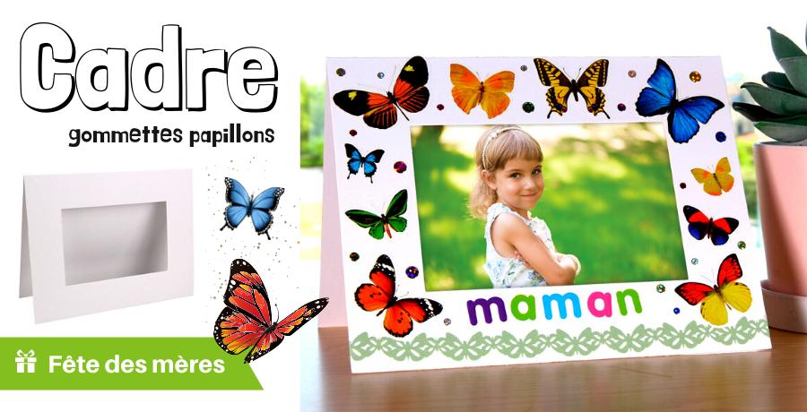 DIY cadre papillon fête des mères