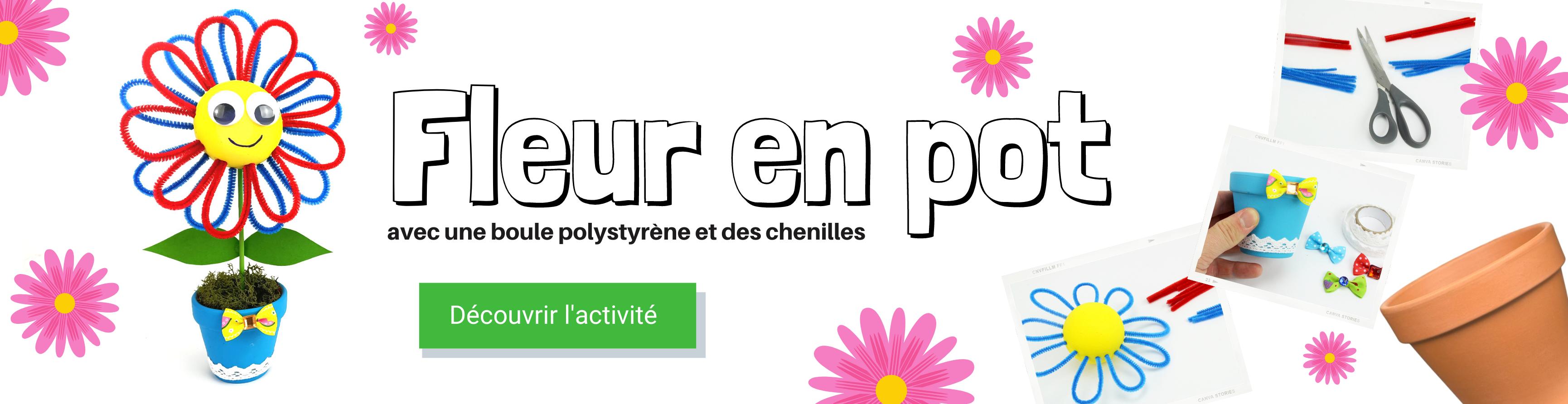 DIY fleur chenilles