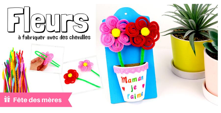 DIY fleurs chenilles
