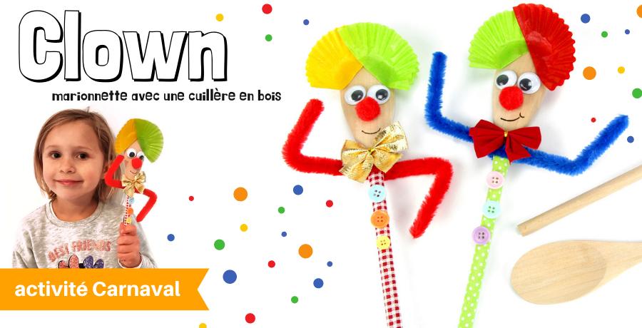 DIY marionnette clown
