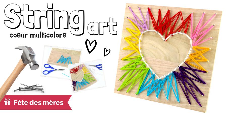 DIY string art coeur