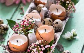 Je fais des bougies oeufs - Activités de Pâques - 10doigts.fr