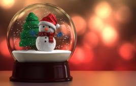 Je fais une boule à neige - Activités de Noël - 10doigts.fr