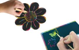 Cartes à gratter - Arts plastiques - 10doigts.fr