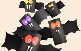 Je fabrique des Chauves-souris - Activités d'Halloween - 10doigts.fr