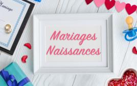 Mariages, Naissances - Événements - 10doigts.fr
