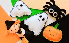 Je fais des monstres en feutrine - Activités d'Halloween - 10doigts.fr