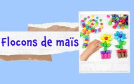 Flocons de mais - Tutos Enfants - 10doigts.fr