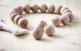 Perles en bois - Matières de perles - 10doigts.fr