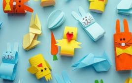 Je fais des décorations en origami - Activités de Pâques - 10doigts.fr