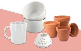 Supports en Céramique et Terre Cuite - Supports à décorer - 10doigts.fr