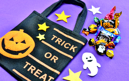 Je fabrique mon sac à bonbons - Activités d'Halloween - 10doigts.fr