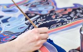 Peinture sur soie - Arts plastiques - 10doigts.fr