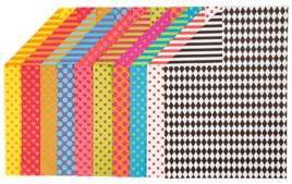Papiers motifs géométriques - Papiers Imprimés - 10doigts.fr