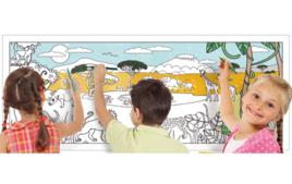 Fresques de coloriage - Activités en papier - 10doigts.fr