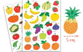 Gommettes Fruits et Légumes - Gommettes, stickers - 10doigts.fr