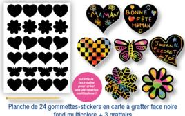 Gommettes à colorier, à gratter - Gommettes, stickers - 10doigts.fr
