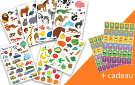 Gommettes Animaux - Gommettes, stickers - 10doigts.fr