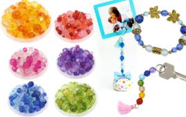 Perles acrylique - Matières de perles - 10doigts.fr