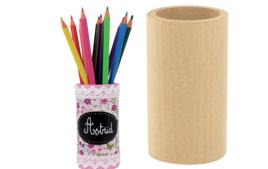 Pots à crayons - Bois - 10doigts.fr