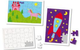 Puzzle à colorier, dessiner ou peindre - Objets à décorer - 10doigts.fr