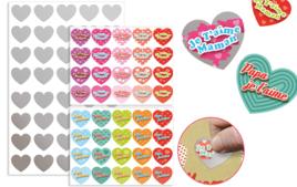 Stickers, gommettes coeurs - Gommettes de fêtes - 10doigts.fr