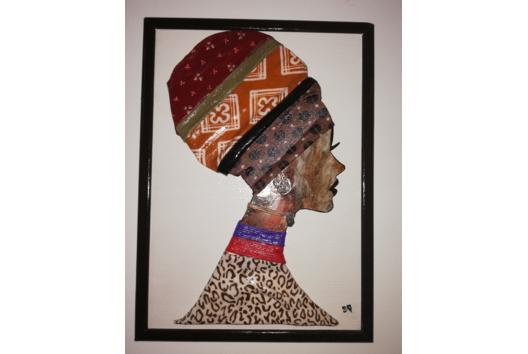 Tableau relief femme africaine - Déco du bois - 10doigts.fr