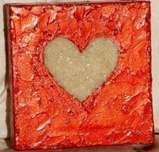 Coeur de sable - Home Déco, Châssis - 10doigts.fr