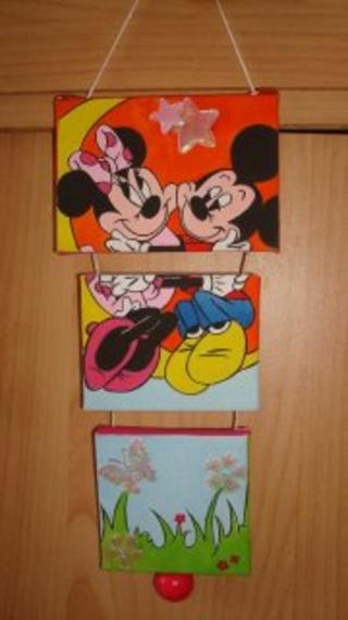 tryptique mickey et minnie - Peinture - 10doigts.fr