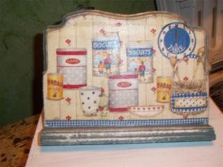 LUTRIN DE CUISINE  - Vernis collage papiers, serviettes - 10doigts.fr