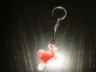 Coeur 1 en porte-clé - Plastique maqique (rétractable) - 10doigts.fr