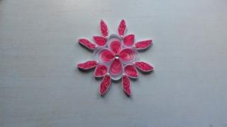 Quilling fleur rose et blanche - Quilling - 10doigts.fr