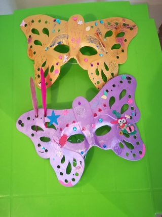 Masques de papillon - Créations d'enfant - 10doigts.fr
