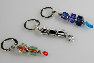 Porte-clef perles chevron - Perles, bracelets, colliers - 10doigts.fr