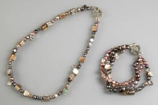 Bracelet et collier coordonnés - Perles, bracelets, colliers - 10doigts.fr