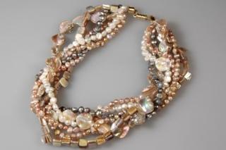 Collier de perles nacrées - Perles, bracelets, colliers - 10doigts.fr