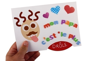 Carte disque mobile - Fête des Pères - 10doigts.fr