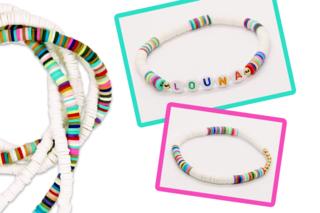 Bracelet avec des perles Heishi - Bijoux - 10doigts.fr