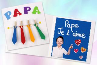 Carte cravates fête des pères - Fête des Pères - 10doigts.fr