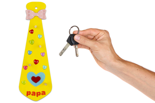 Cravate porte-clés #3 - Fête des Pères - 10doigts.fr