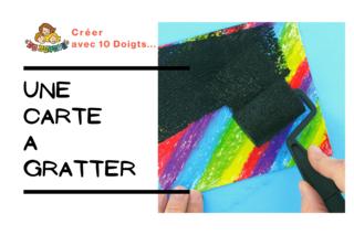 Créer des cartes à gratter - Cartes à gratter, cartes à sabler - 10doigts.fr