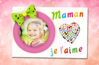 """Mini cadre """"Maman je t'aime"""" - Fête des Mères - 10doigts.fr"""