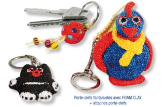 Porte-clefs en FOAM CLAY - Modelage - 10doigts.fr