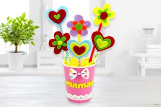 Un joli bouquet de fleurs pour Maman - Fête des Mères - 10doigts.fr