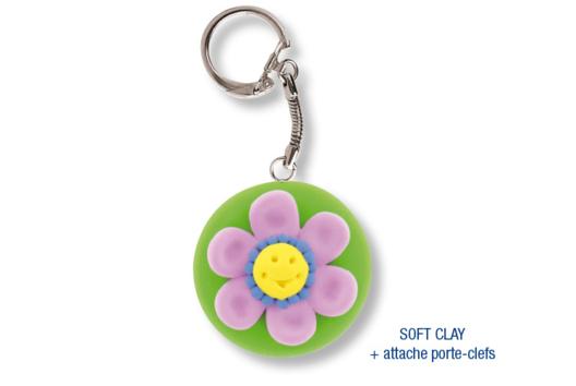 Porte-clefs en pâte à modeler SOFT CLAY - Modelage - 10doigts.fr