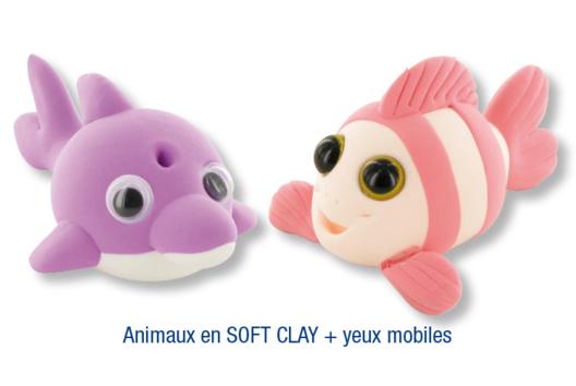 Animaux en pâte à modeler SOFT CLAY - Modelage - 10doigts.fr