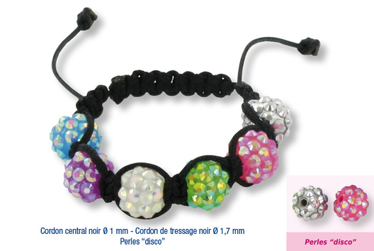 Shamballas... avec des perles Disco - Bracelet Shamballa - 10doigts.fr