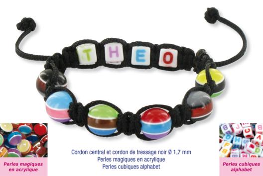 Shamballas... avec des perles magiques + perles lettres - Bracelet Shamballa - 10doigts.fr