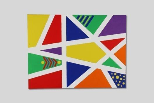 Mon premier tableau d'art abstrait - Peinture - 10doigts.fr