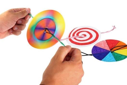 Toupies à corde - Dessiner, colorier - 10doigts.fr